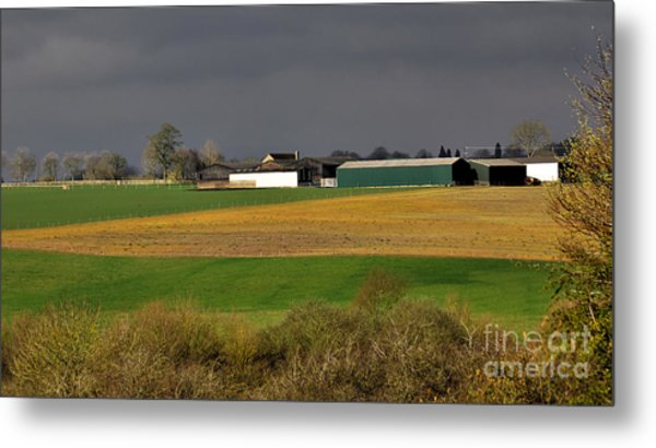 Metal Print featuring the photograph Farm View by Jeremy Hayden
