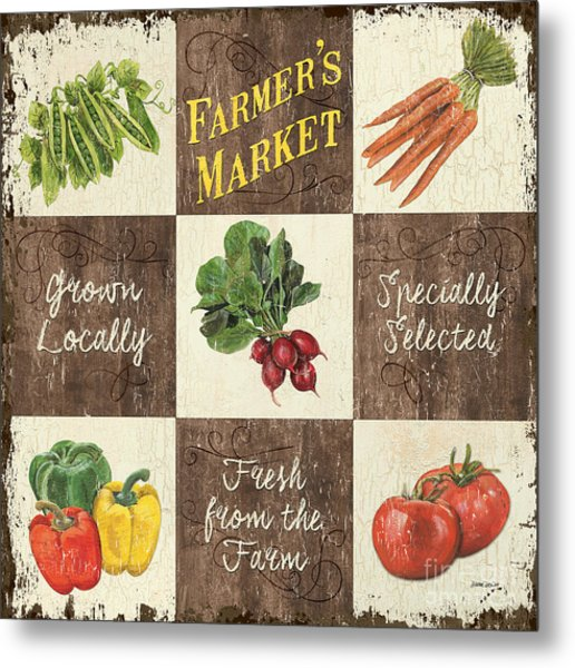 Farmer's Market Patch Metal Print