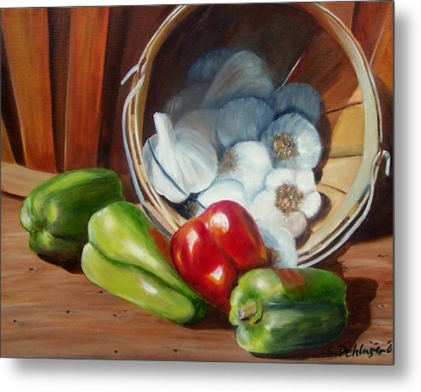 Metal Print featuring the painting Farmers Market by Susan Dehlinger