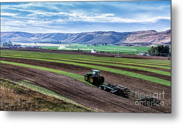 Farming In Pardise Agriculture Art By Kaylyn Franks Metal Print