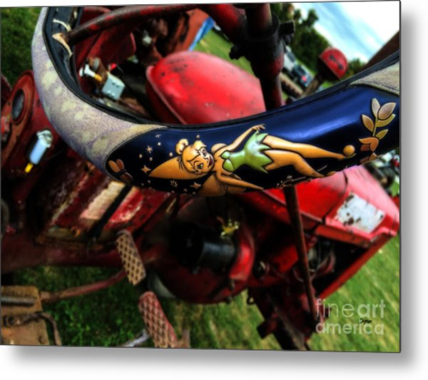 Farming With Tinker Bell  Metal Print by Steven Digman