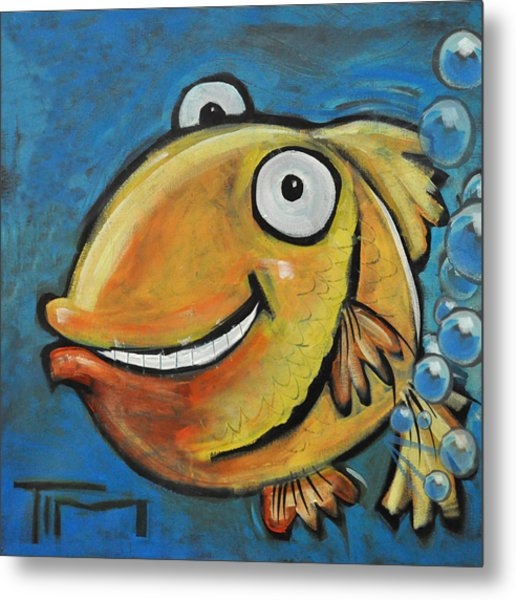 Farting Fish Metal Print