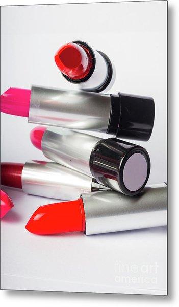Fashion Model Lipstick Metal Print