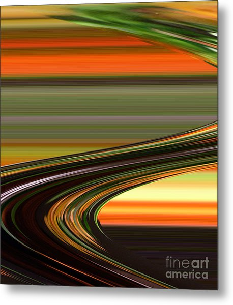 Fast Track Metal Print by Addie Hocynec