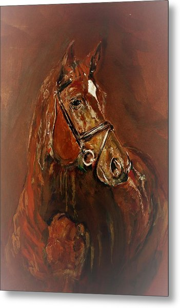 Fasten With A Buckle Metal Print