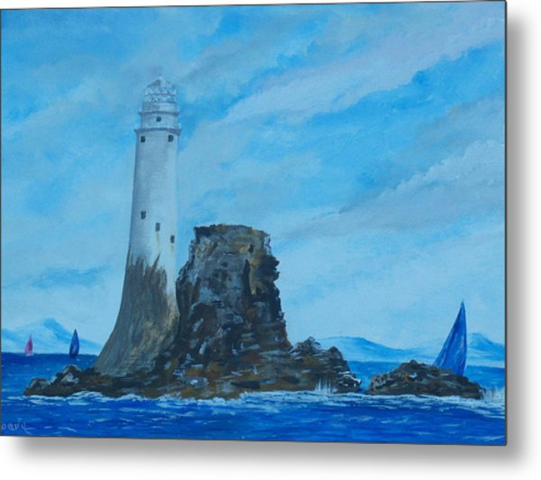 Fastnet Rock Lighthouse. Metal Print