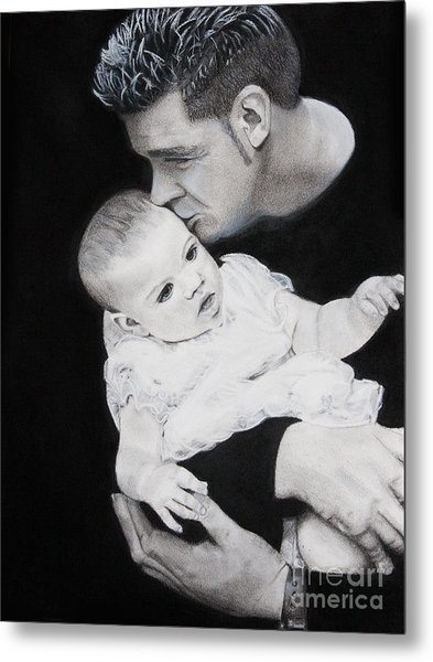 Father And  Daughter Metal Print by Raymond Potts