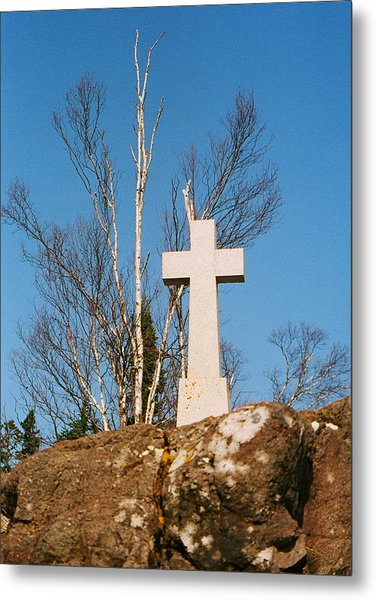 Father Baraga's Cross Metal Print by C E McConnell