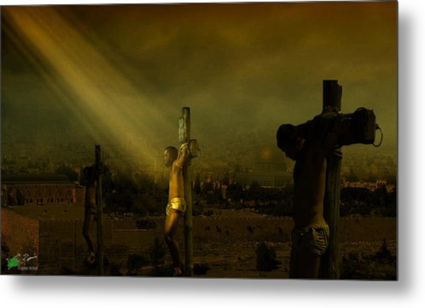 Father, Into Your Hands I Commend My Spirit Metal Print