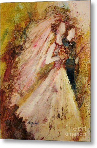 Metal Print featuring the painting Father Of The Bride by Deborah Nell