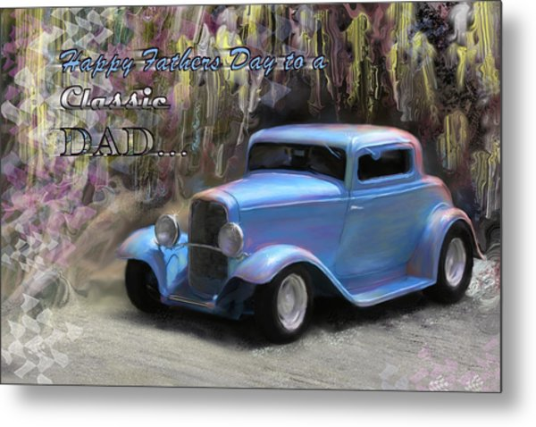 Fathers Day Classic Dad Metal Print