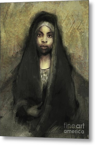 Metal Print featuring the digital art Fatima by Dwayne Glapion