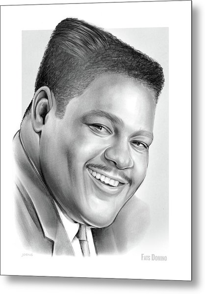 Fats Domino Metal Print