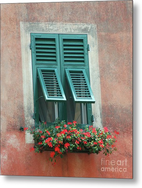 Faux  Painting Window  Metal Print