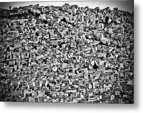 Favela Village In El Alto, La Paz, Bolivia Metal Print by Joel Alvarez