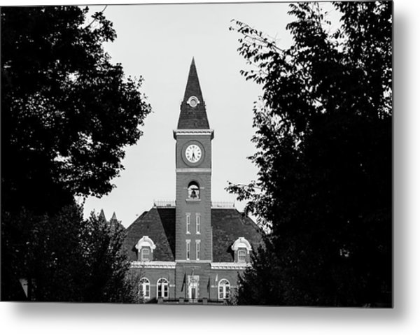 Fayetteville Arkansas Downtown Courthouse Black And White  Metal Print