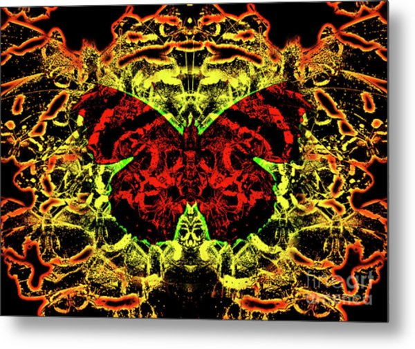 Fear Of The Red Admirals Metal Print