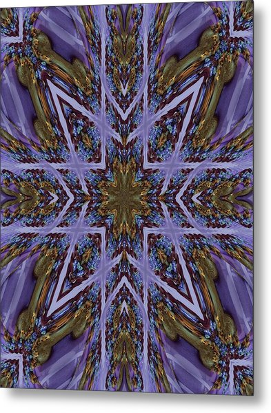 Feather Cross Metal Print by Ricky Kendall