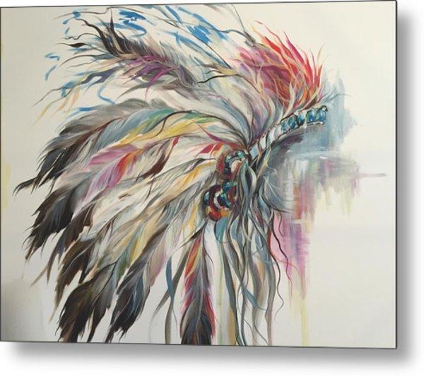 Feather Hawk Metal Print