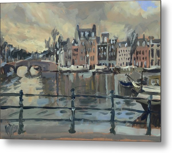 February Morning Along The Amstel Metal Print