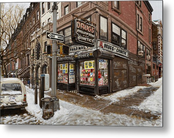February Pharmacy Metal Print by Ted Papoulas