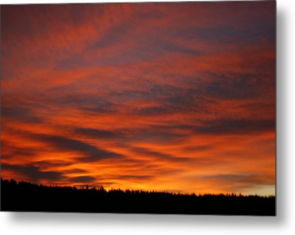 February Sunrise On The Ridge Metal Print