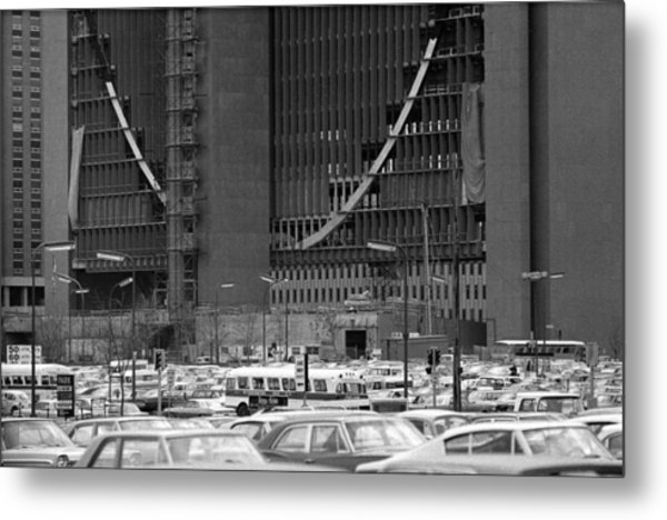 Federal Reserve Under Construction Metal Print