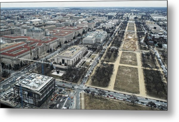Federal Triangle And Mall Metal Print