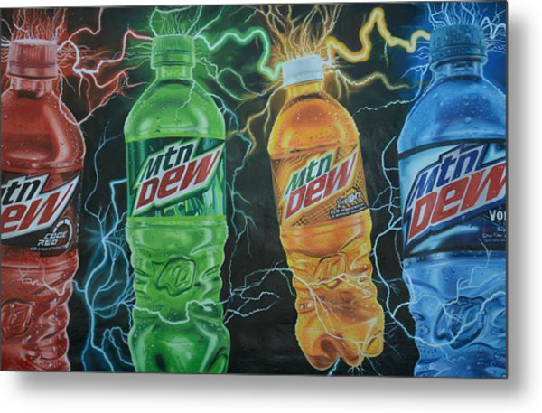 Feel The Dew Metal Print