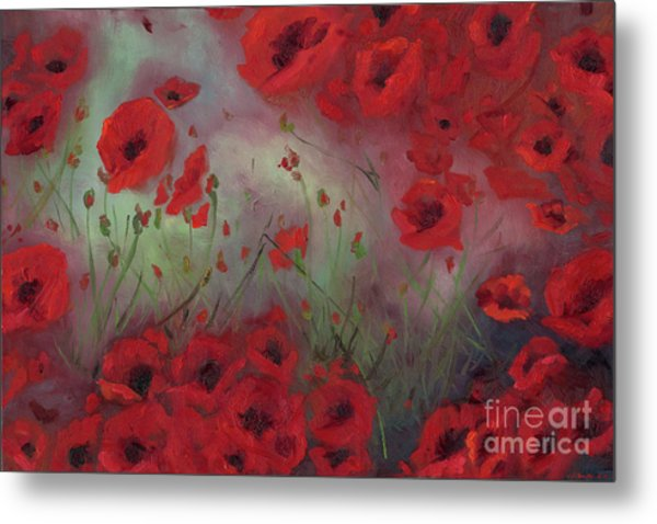 Feeling Poppy Metal Print