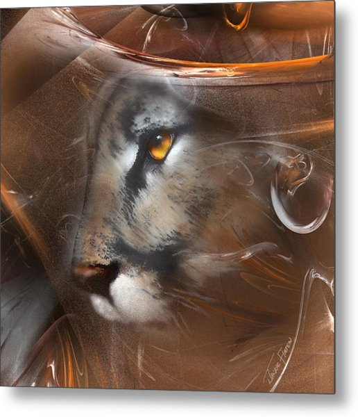 Feline Princess Metal Print