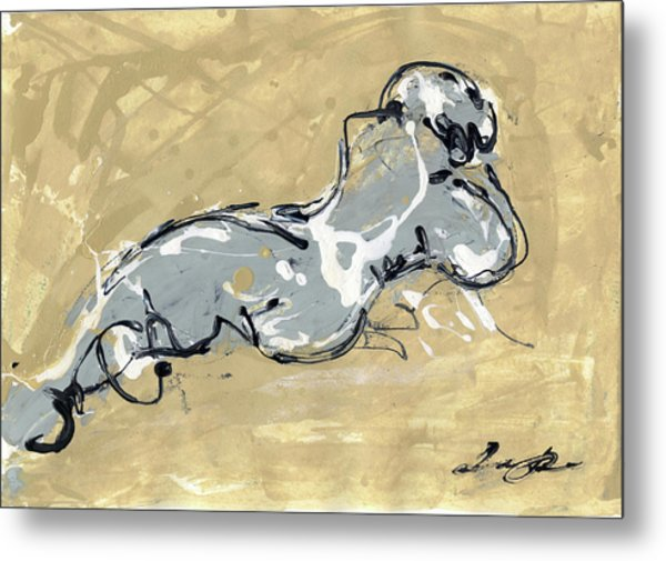 Female Abstract Nude Metal Print