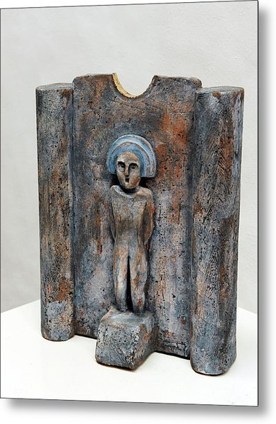 Female Figurine - Goddess Worship - Matrone - Matrones -matronen - Matrona - Diosa-nettersheim Eifel Metal Print