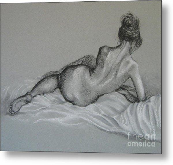 Female Nude Metal Print