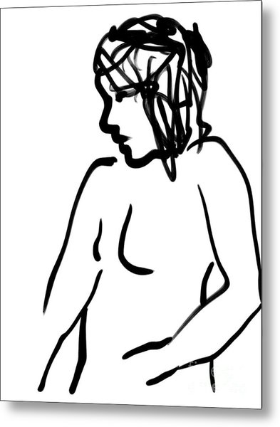 Female Nude Metal Print