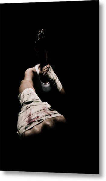 Female Toughness Metal Print