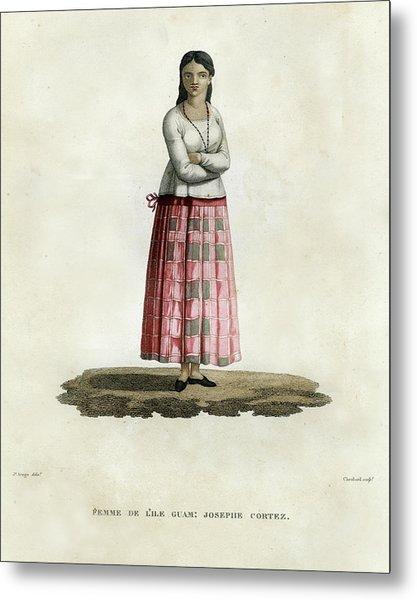 Femme De L Ile Guam Josephe Cortez Metal Print