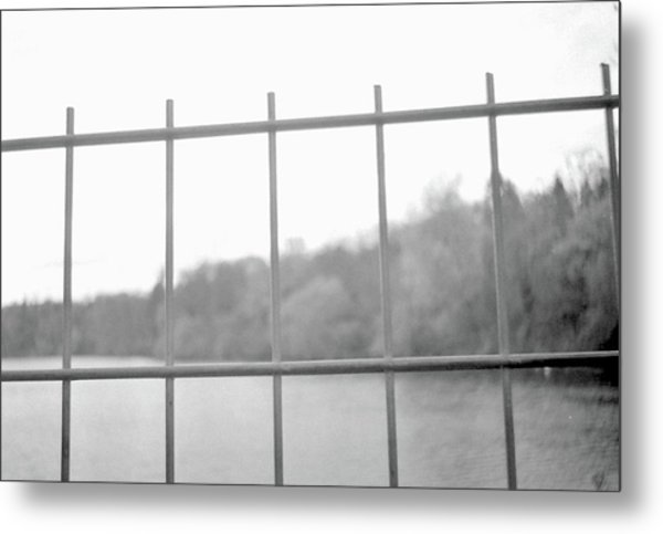 Fence Against Nature Metal Print