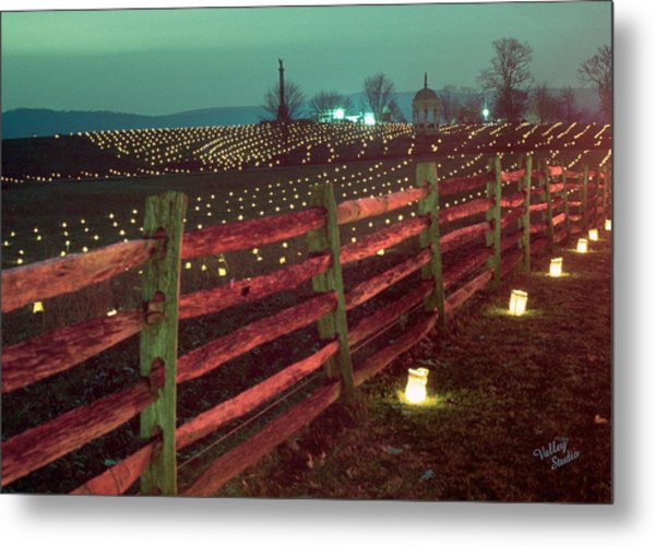 Fence And Luminaries 11 Metal Print
