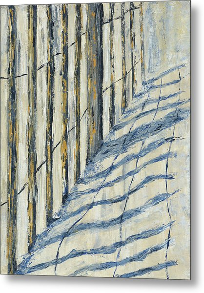 Metal Print featuring the painting Fence At Palmetto Dunes by Kathryn Riley Parker