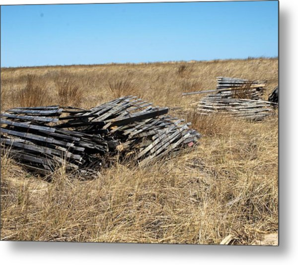 Fence Bails Metal Print