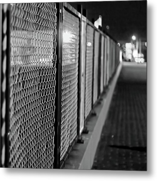 Fenced In Or Fenced Out Metal Print