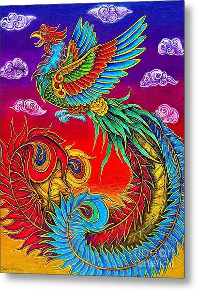 Fenghuang Chinese Phoenix Metal Print