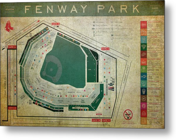 Fenway Park Seating Chart Metal Print