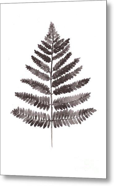 Fern Leaf Watercolor Art Print Metal Print