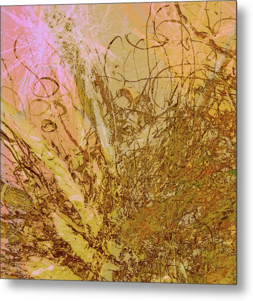 Fern Series 32 Bubbles Rise Metal Print