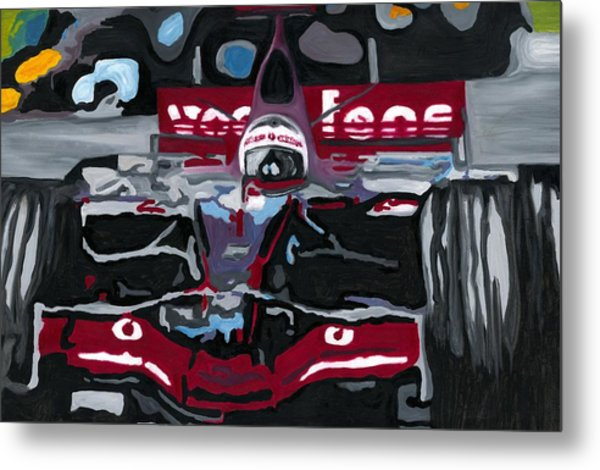 Fernando Alonso Wins Monaco For Mclaren 2008 Metal Print
