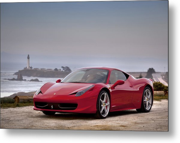 Metal Print featuring the photograph Ferrari 458 Italia by ItzKirb Photography