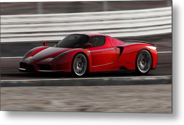 Ferrari Enzo - Rosso Corsa Metal Print by Andrea Mazzocchetti