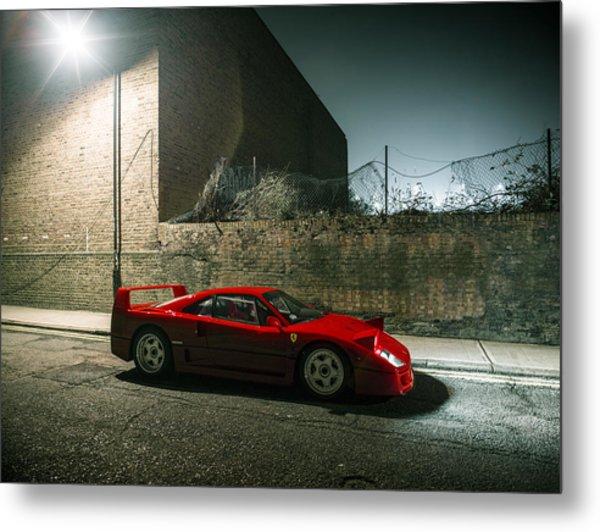 Ferrari F40 Lurking Metal Print